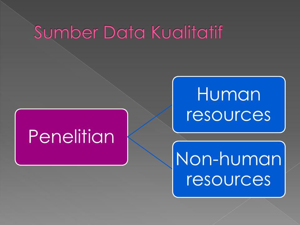 Sumber Data Kualitatif