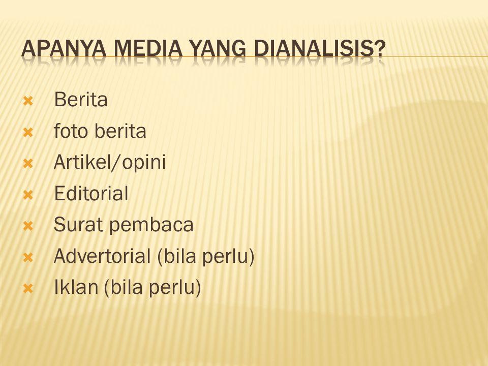 Apanya media yang dianalisis