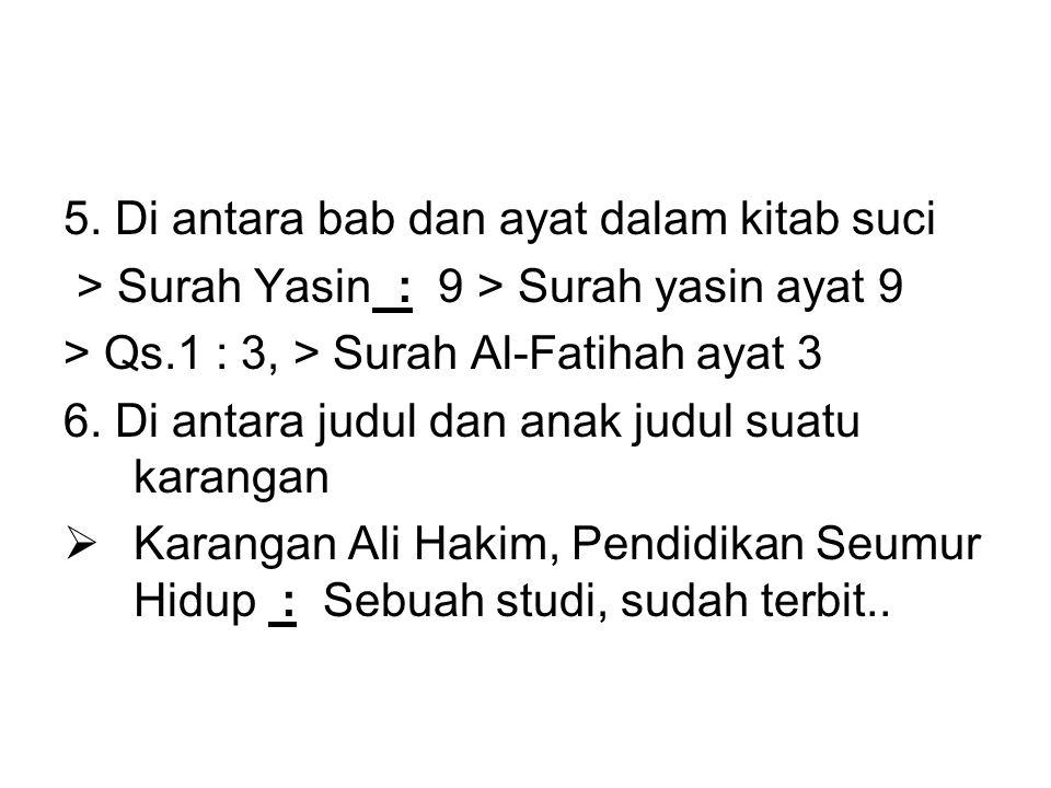 5. Di antara bab dan ayat dalam kitab suci
