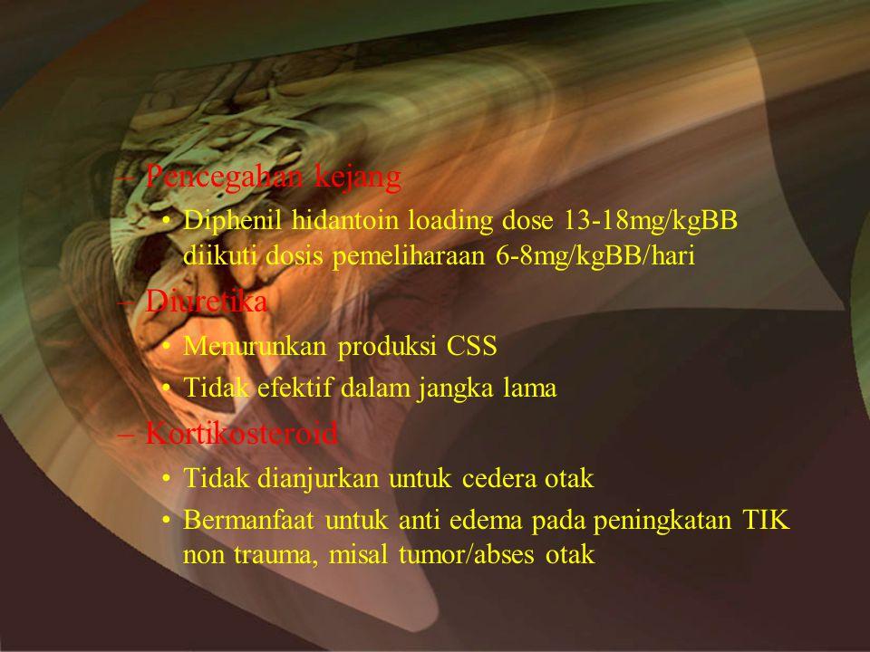 Pencegahan kejang Diuretika Kortikosteroid