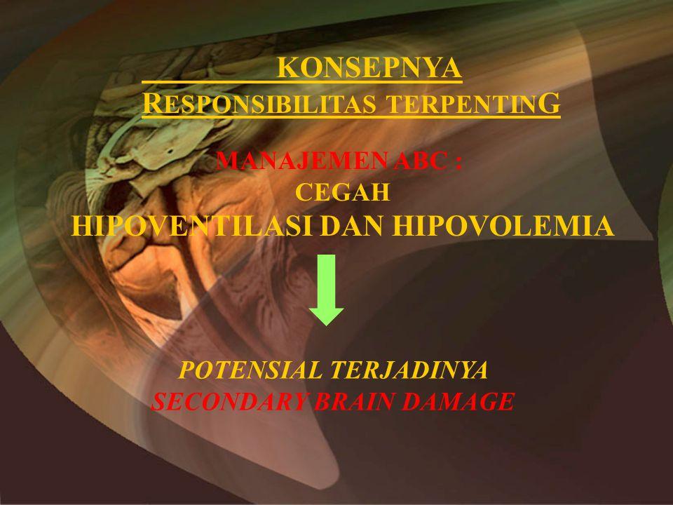 HIPOVENTILASI DAN HIPOVOLEMIA SECONDARY BRAIN DAMAGE