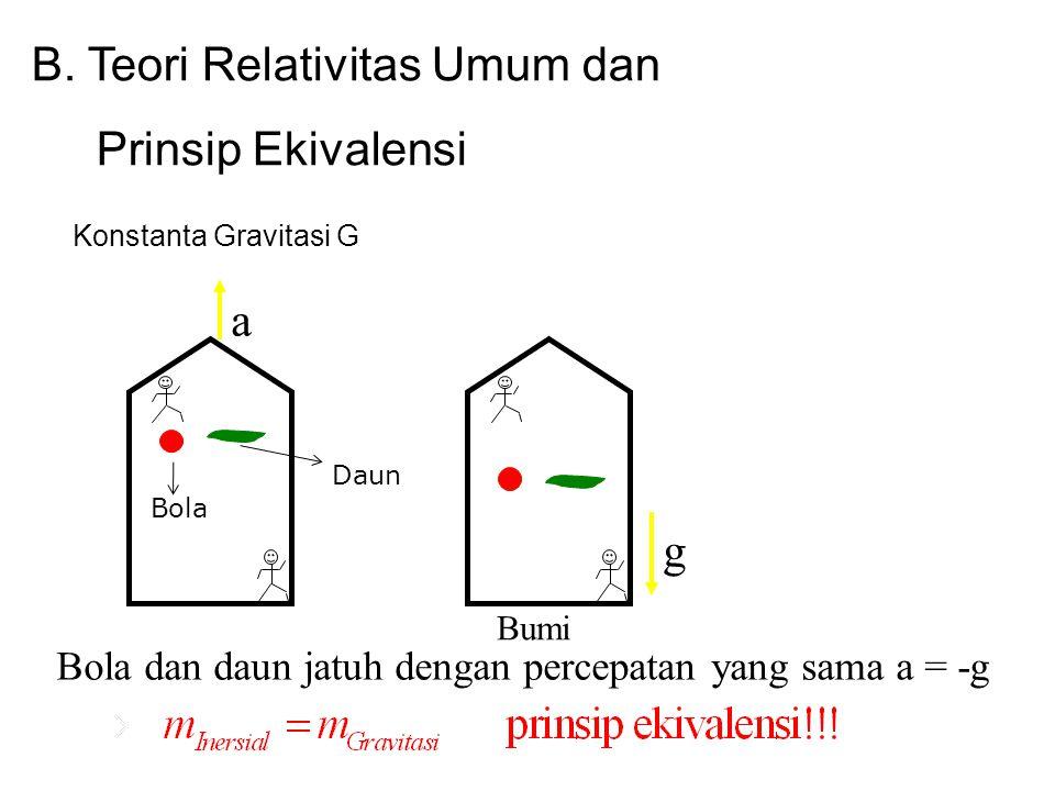 B. Teori Relativitas Umum dan Prinsip Ekivalensi