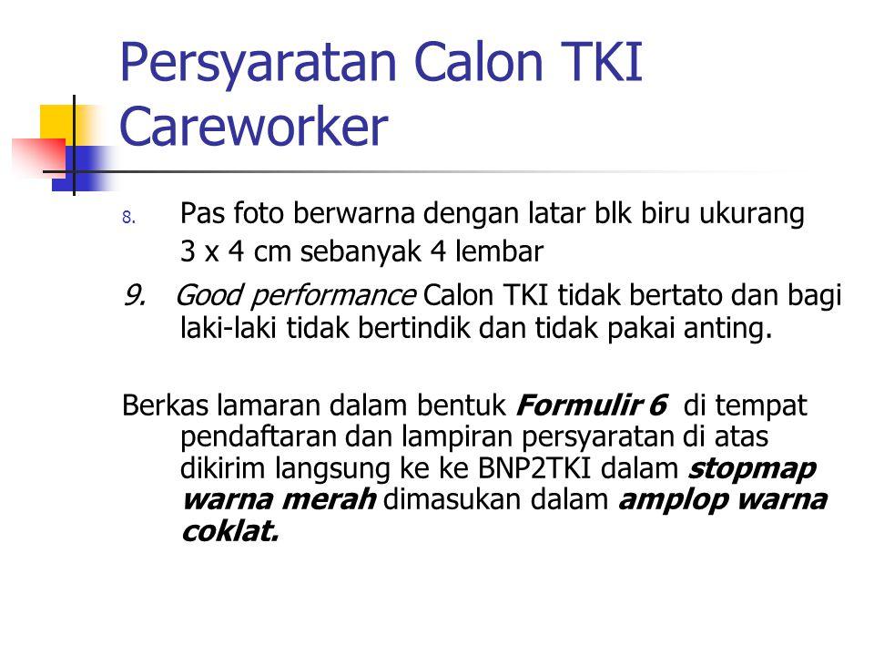 Persyaratan Calon TKI Careworker