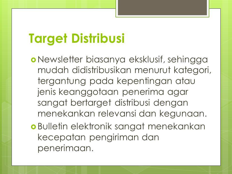Target Distribusi