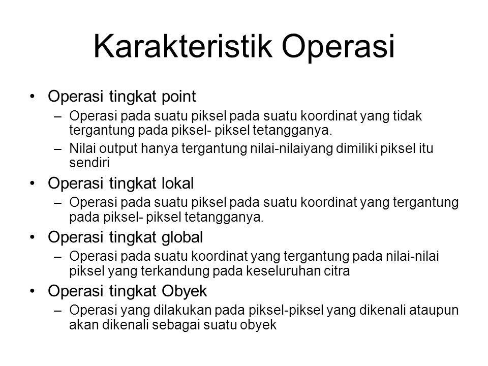 Karakteristik Operasi