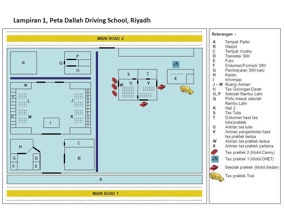 Lampiran 1, Peta Dallah Driving School, Riyadh