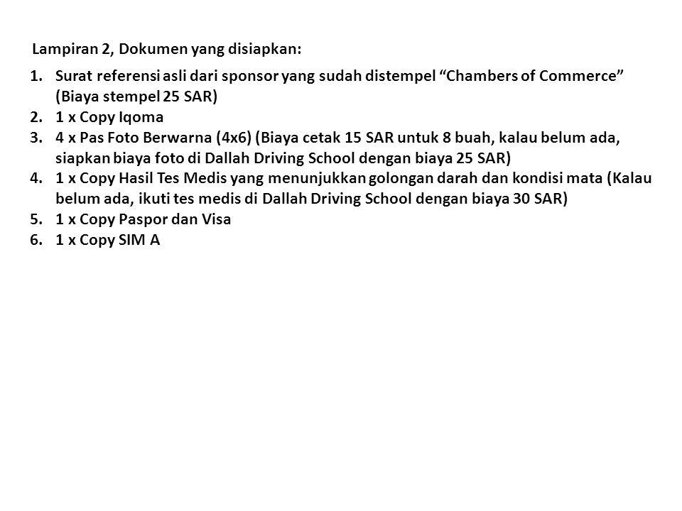 Lampiran 2, Dokumen yang disiapkan: