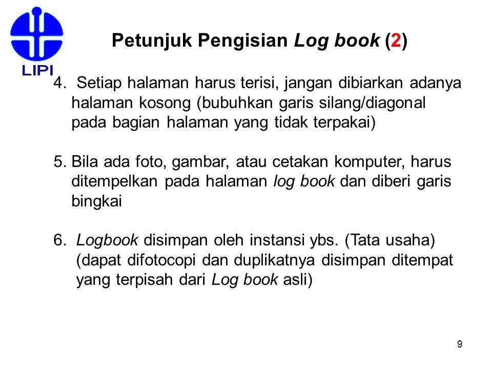 LIPI Petunjuk Pengisian Log book (2)