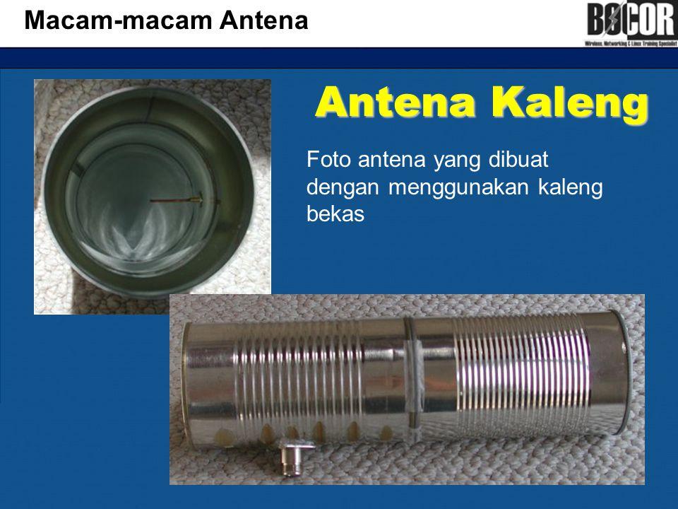 Antena Kaleng Macam-macam Antena