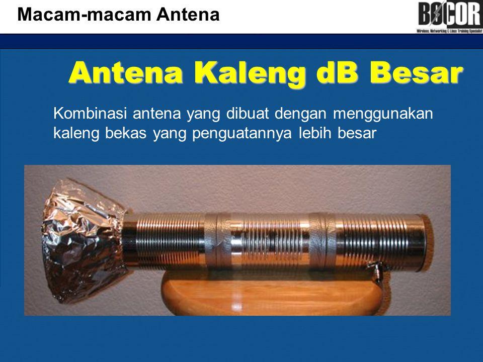 Antena Kaleng dB Besar Macam-macam Antena