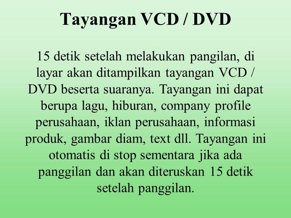 Tayangan VCD / DVD