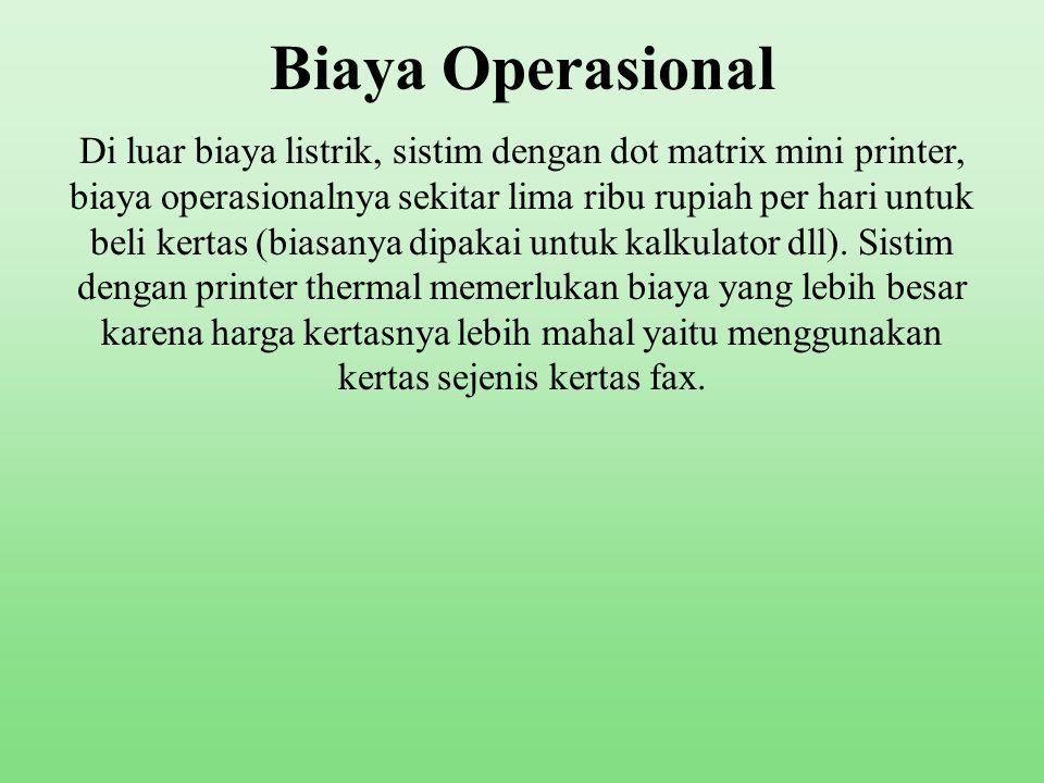 Biaya Operasional