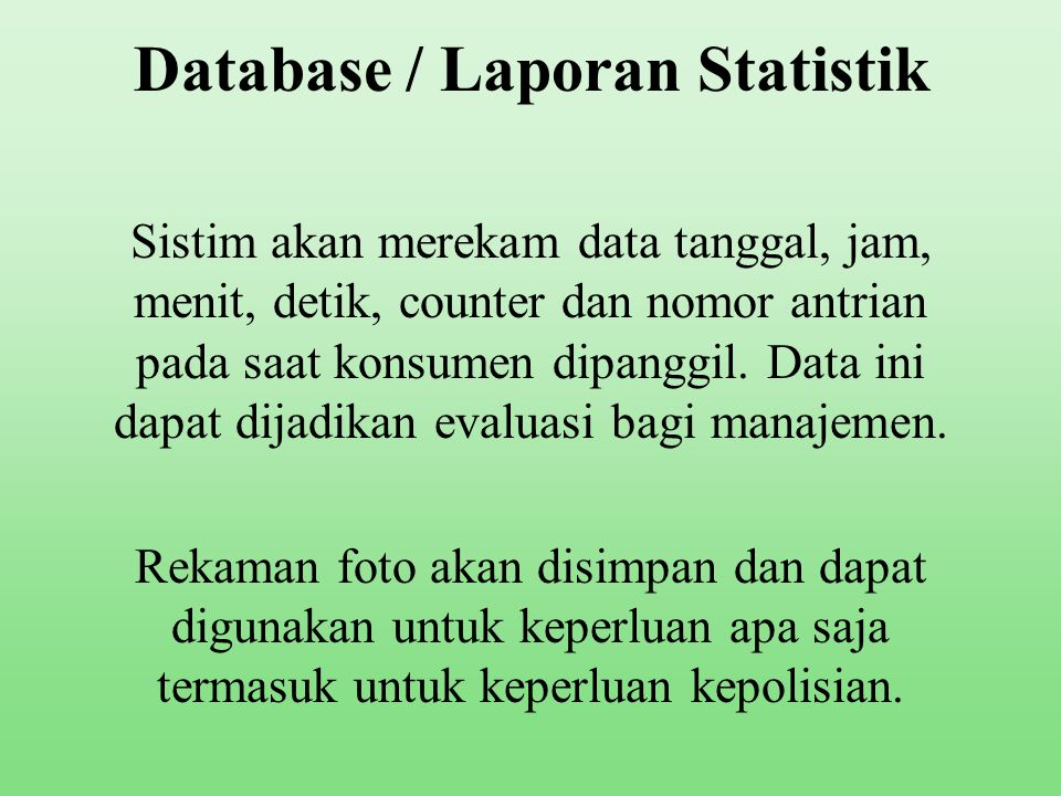 Database / Laporan Statistik