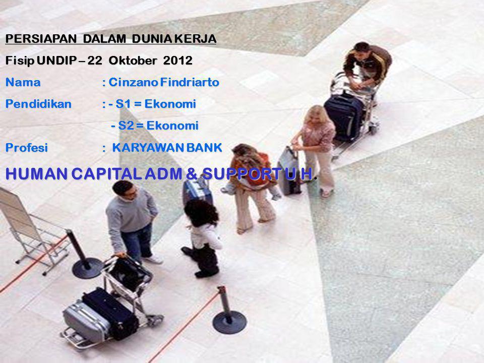 HUMAN CAPITAL ADM & SUPPORT U H.