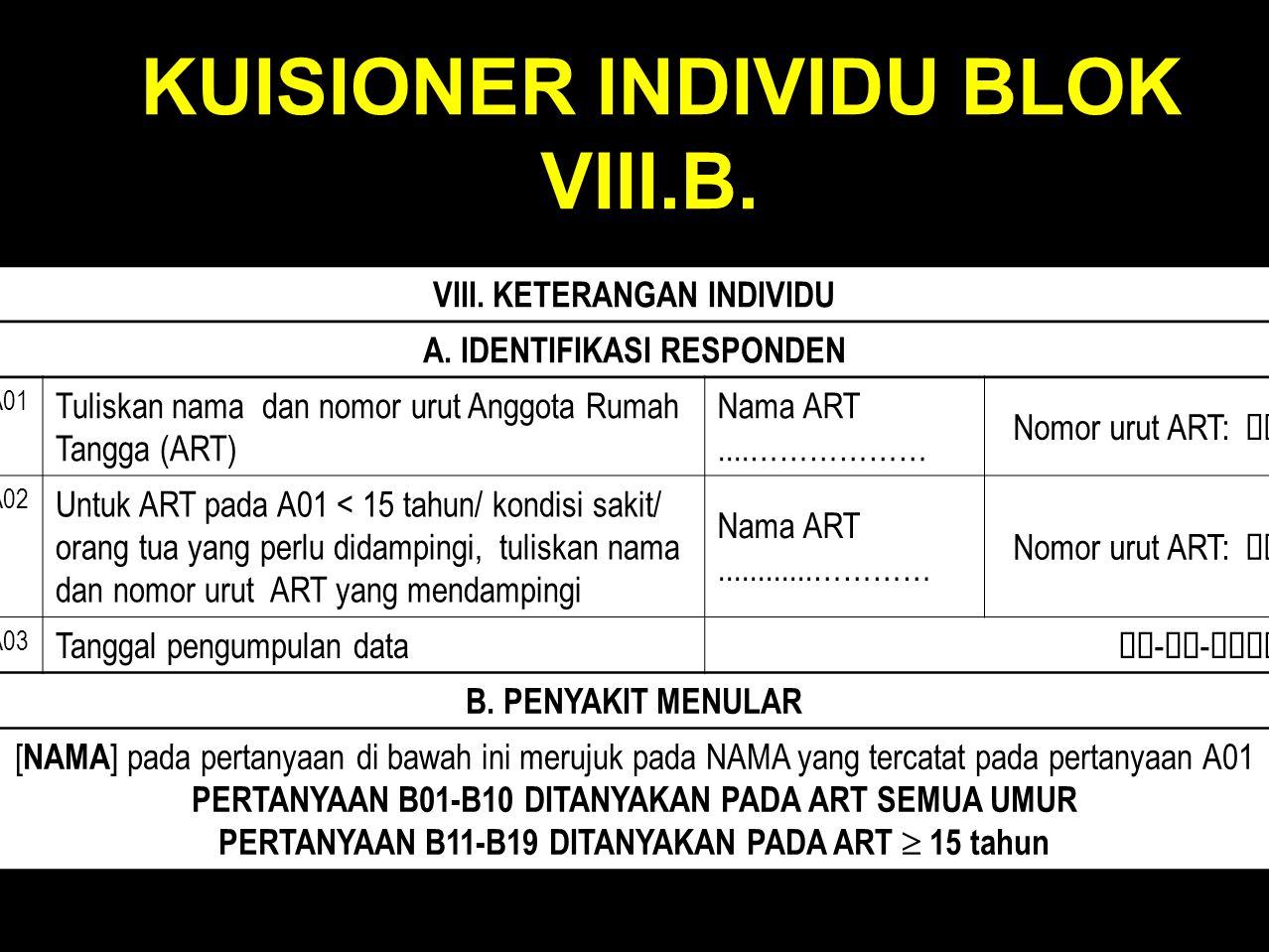 KUISIONER INDIVIDU BLOK VIII.B.