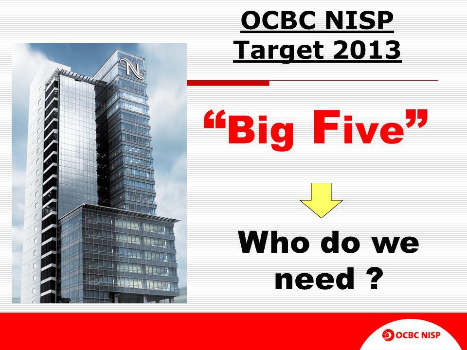 OCBC NISP Target 2013 Big Five Who do we need