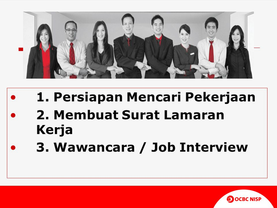 1. Persiapan Mencari Pekerjaan