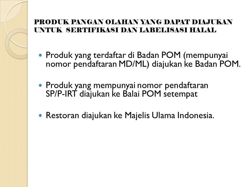 Restoran diajukan ke Majelis Ulama Indonesia.