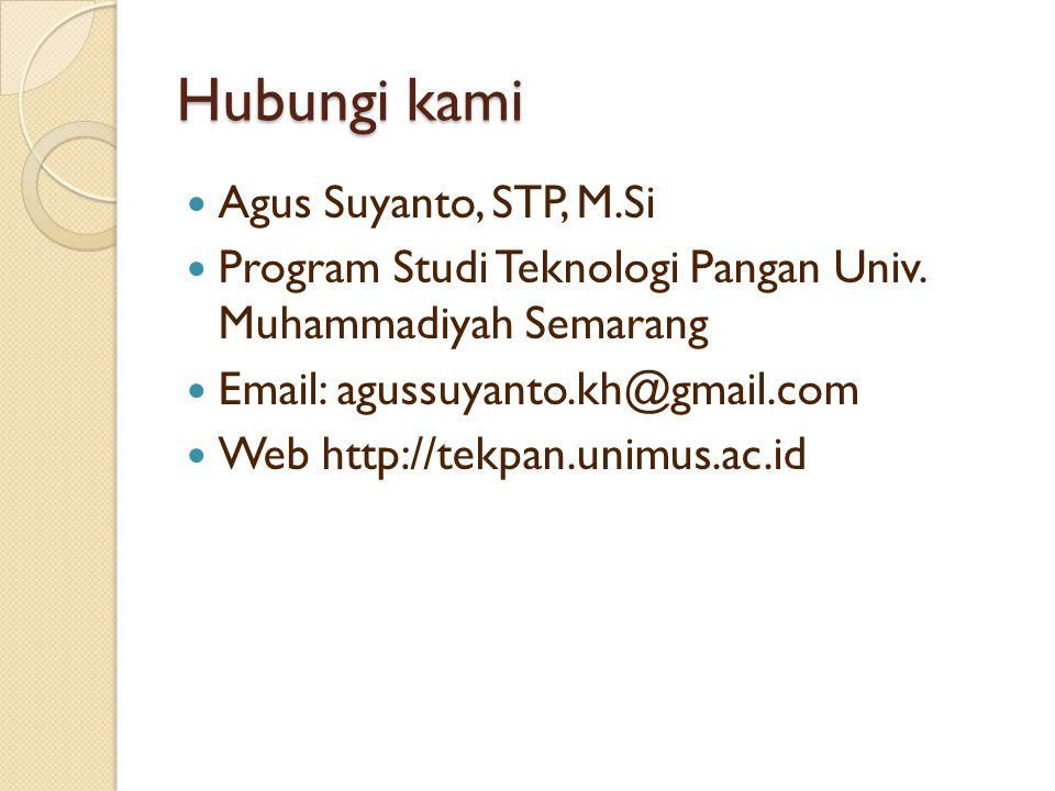 Hubungi kami Agus Suyanto, STP, M.Si