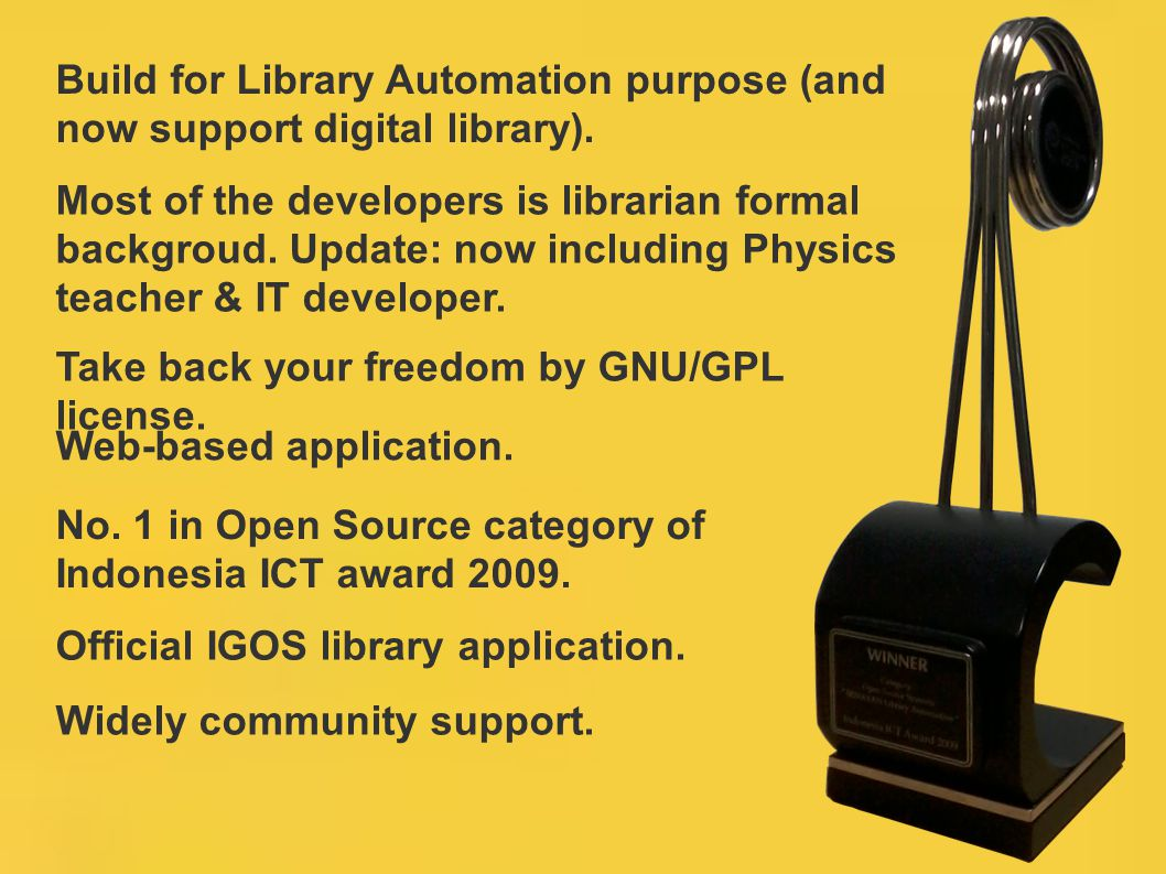 Build for Library Automation purpose (and now support digital library).