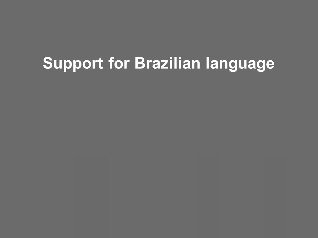 Support for Brazilian language
