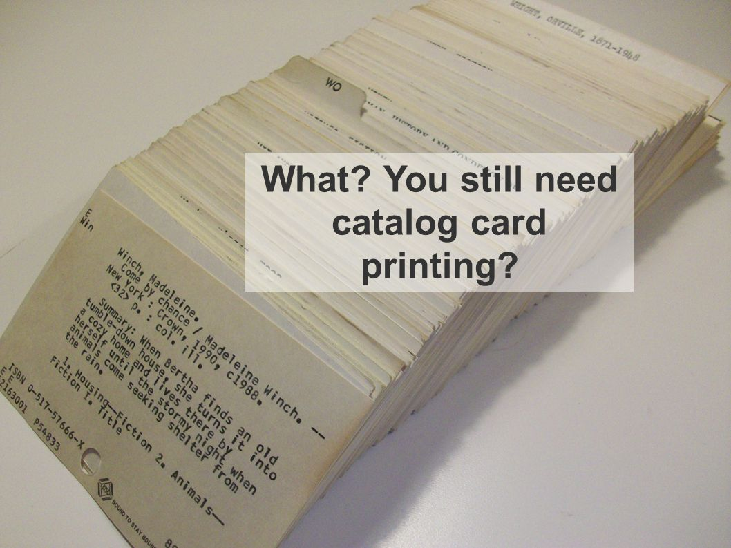 What You still need catalog card printing