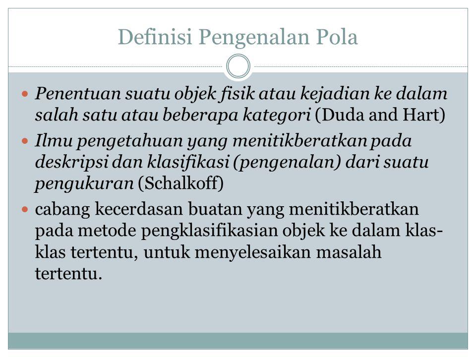 Definisi Pengenalan Pola