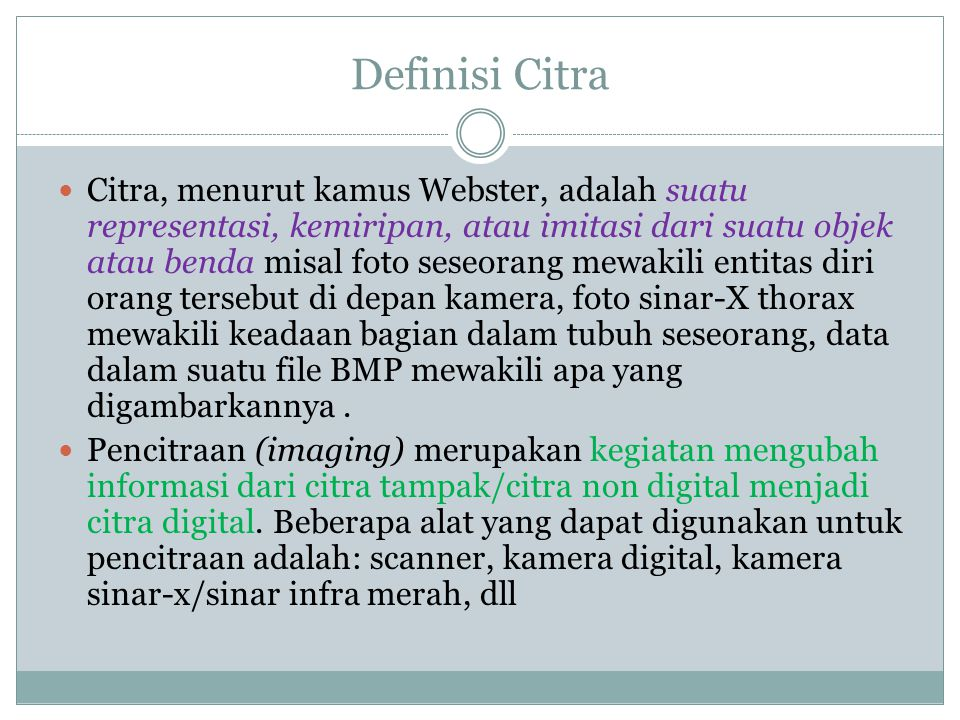 Definisi Citra