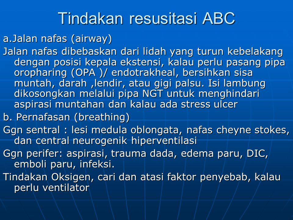 Tindakan resusitasi ABC