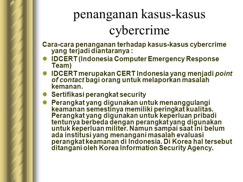 penanganan kasus-kasus cybercrime