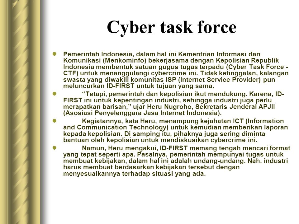 Cyber task force