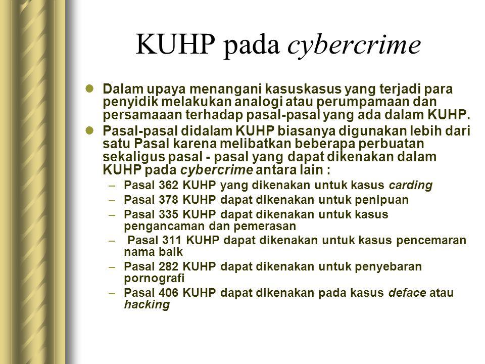 KUHP pada cybercrime