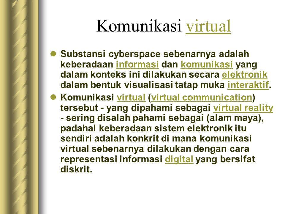 Komunikasi virtual