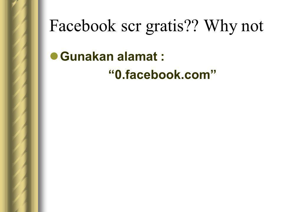 Facebook scr gratis Why not