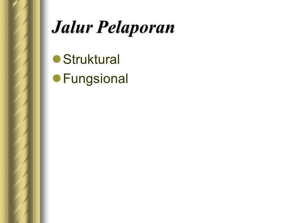 Jalur Pelaporan Struktural Fungsional