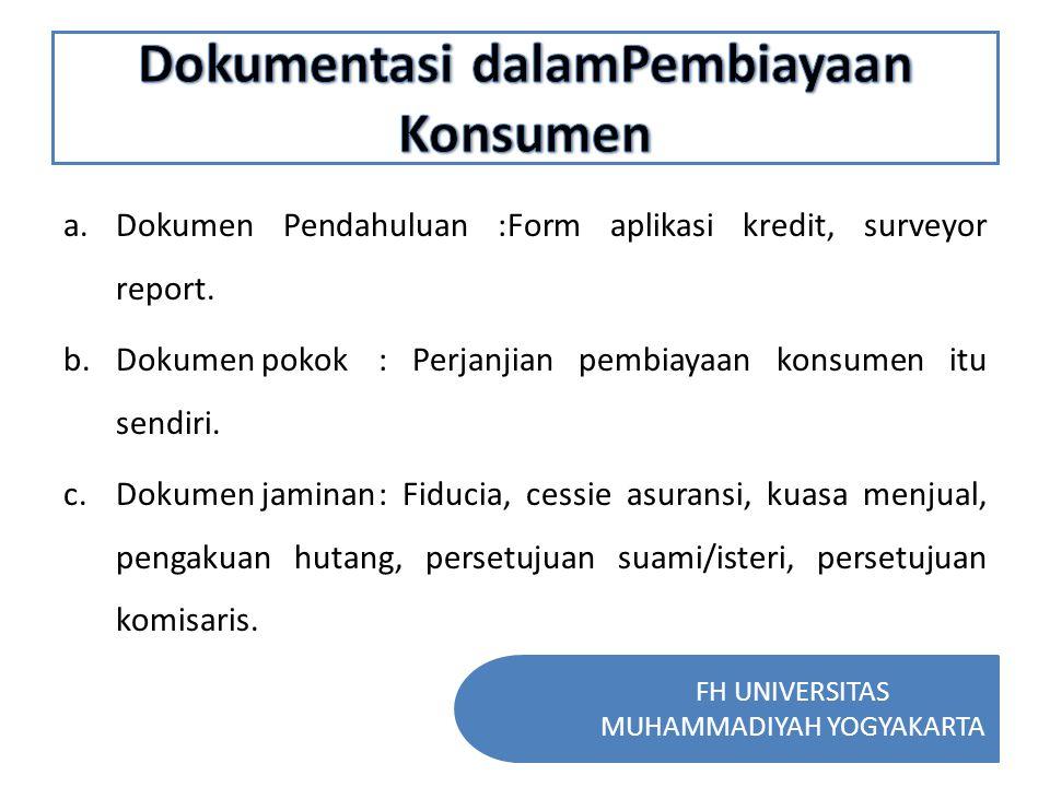 Dokumentasi dalamPembiayaan Konsumen