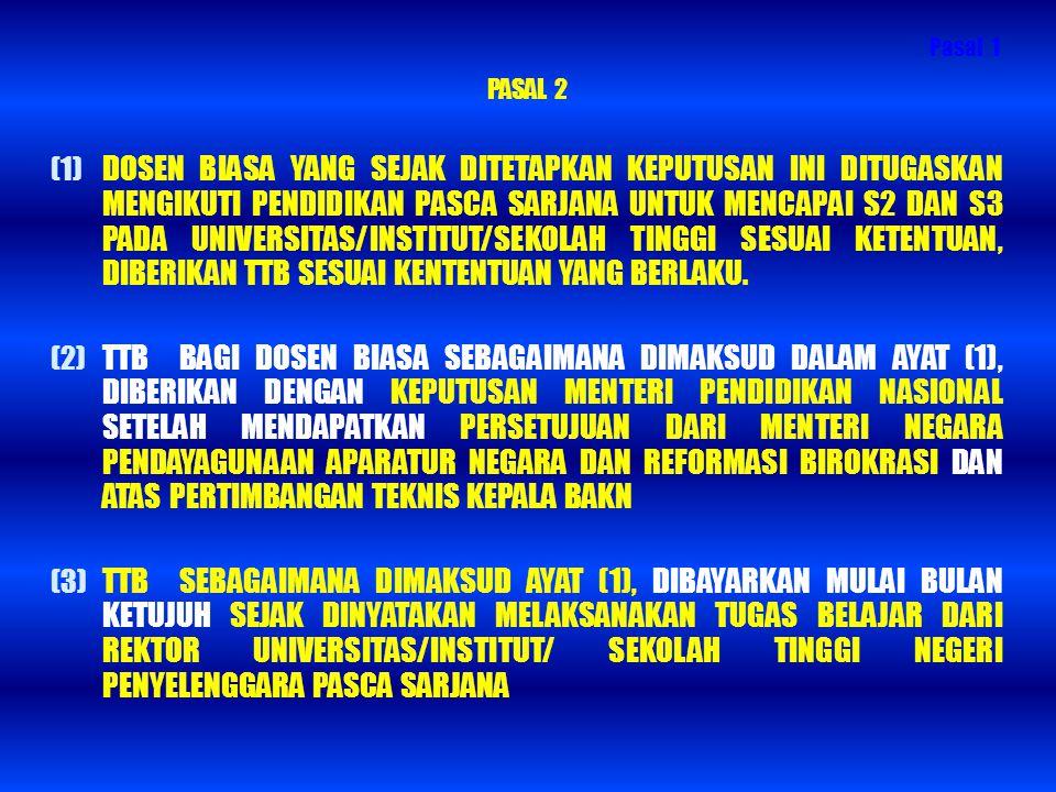 Pasal 1 PASAL 2.