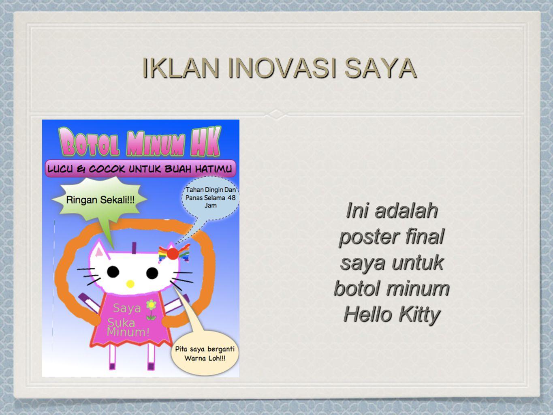 Ini adalah poster final saya untuk botol minum Hello Kitty