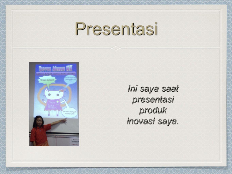 Ini saya saat presentasi