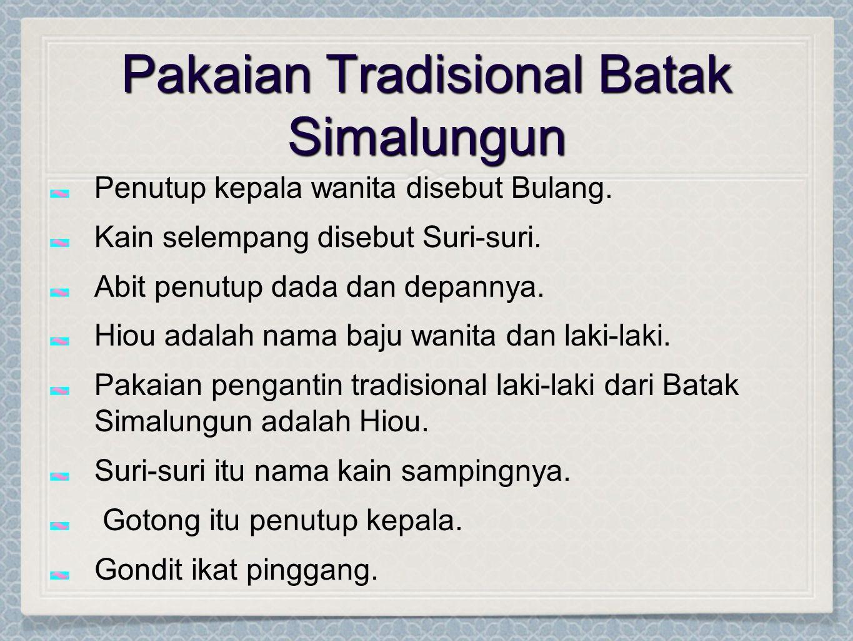 Pakaian Tradisional Batak Simalungun
