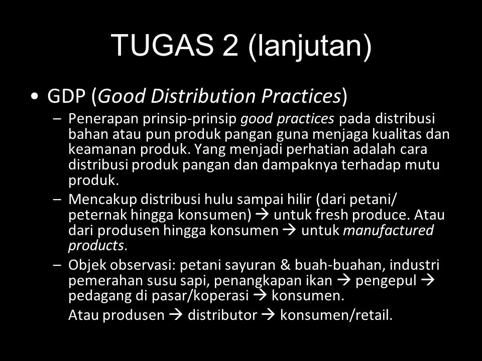 TUGAS 2 (lanjutan) GDP (Good Distribution Practices)