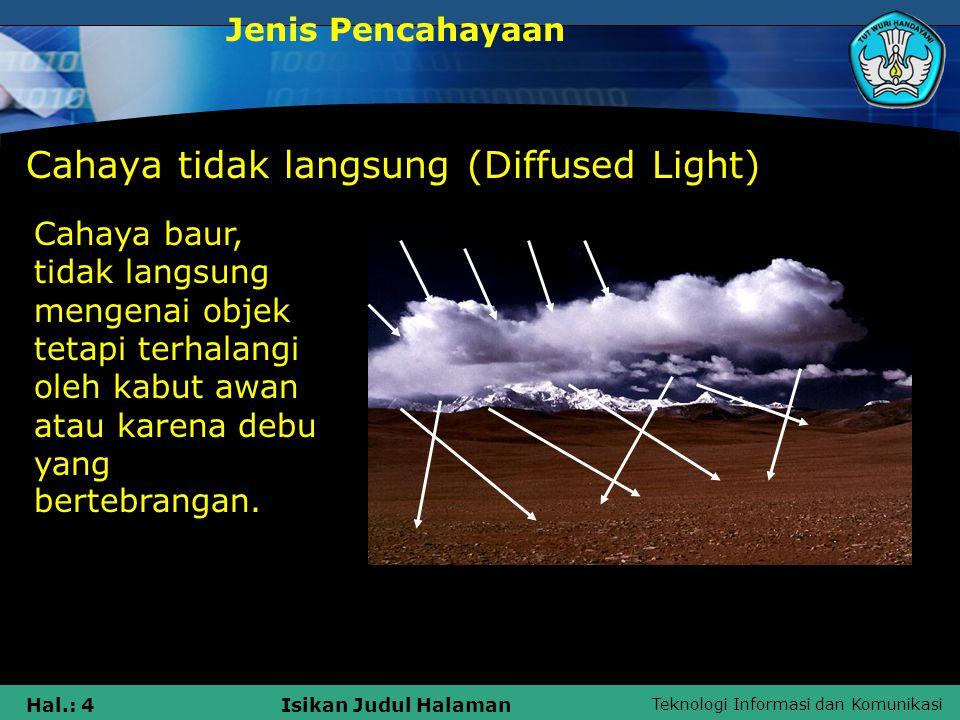 Cahaya tidak langsung (Diffused Light)