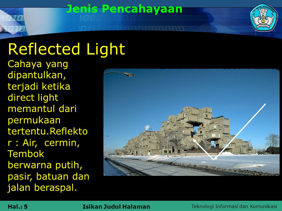 Reflected Light Jenis Pencahayaan