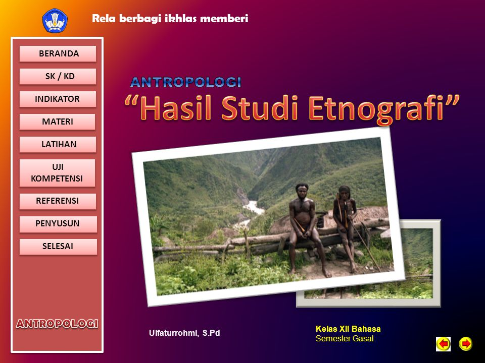 Hasil Studi Etnografi