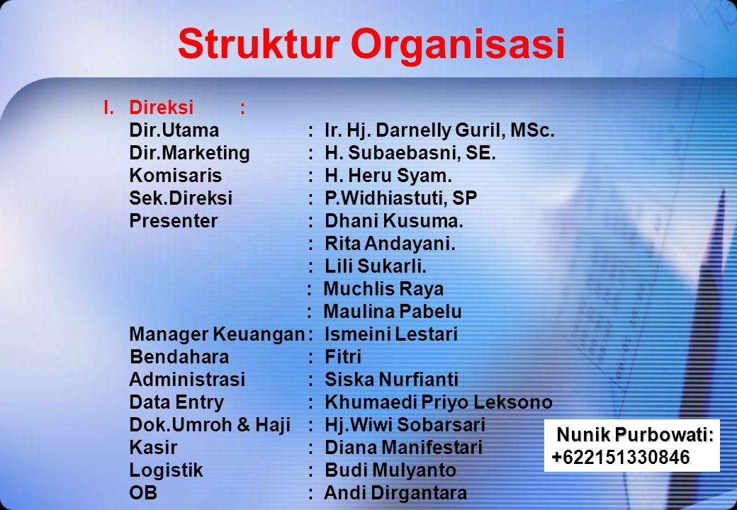 Struktur Organisasi I. Direksi :