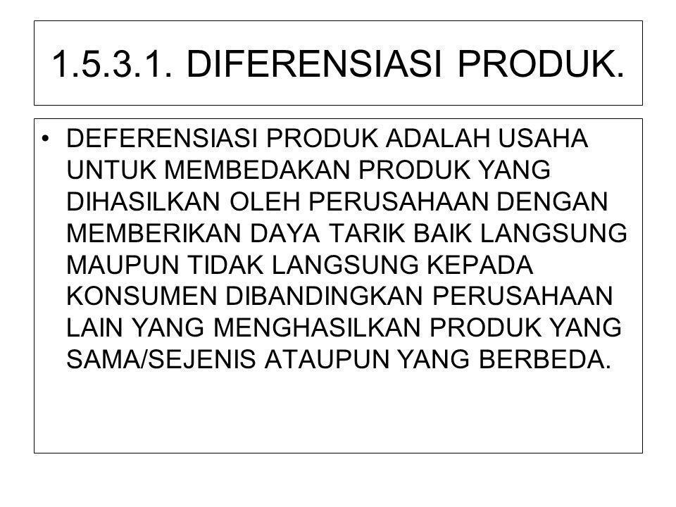 1.5.3.1. DIFERENSIASI PRODUK.