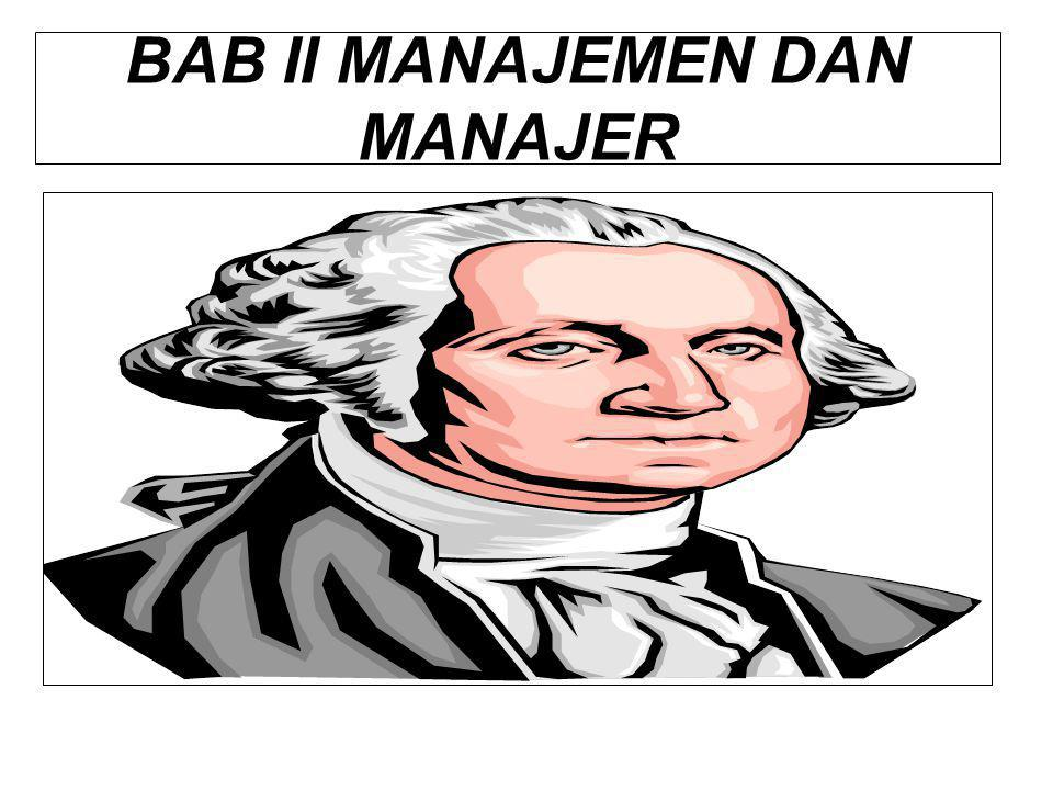 BAB II MANAJEMEN DAN MANAJER
