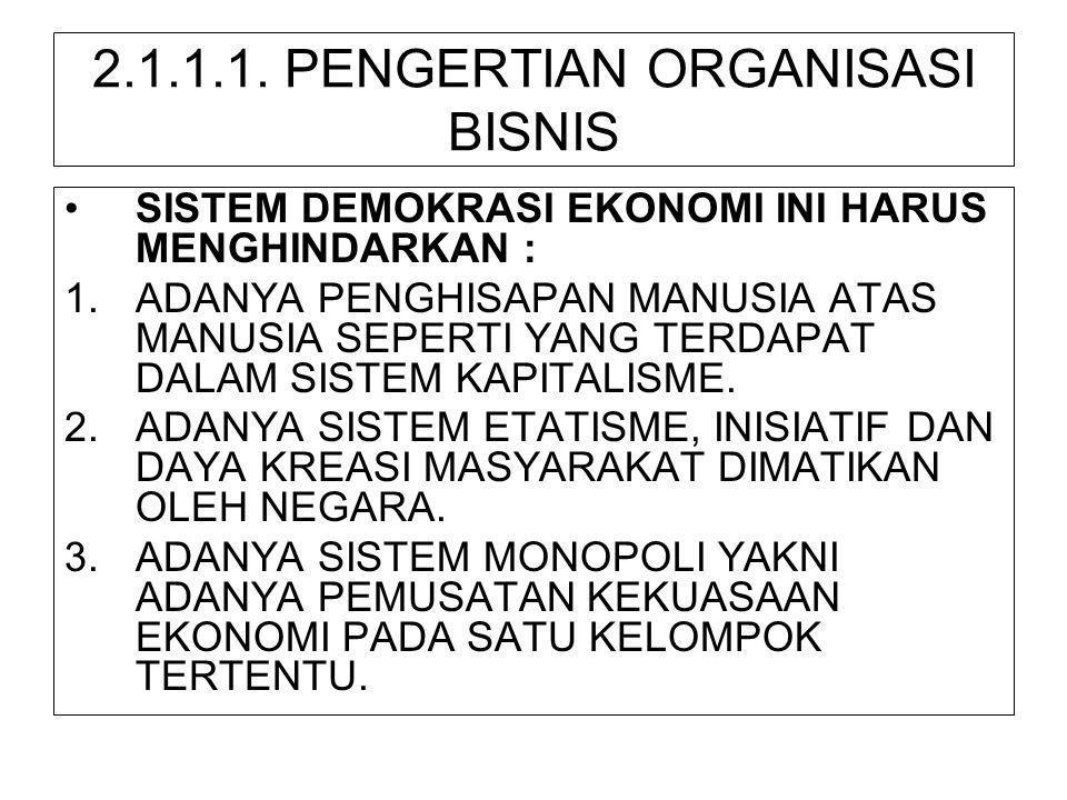 2.1.1.1. PENGERTIAN ORGANISASI BISNIS