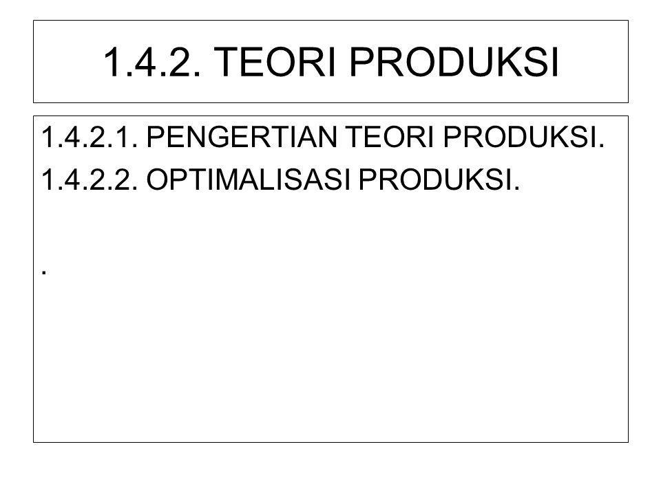 1.4.2. TEORI PRODUKSI 1.4.2.1. PENGERTIAN TEORI PRODUKSI.