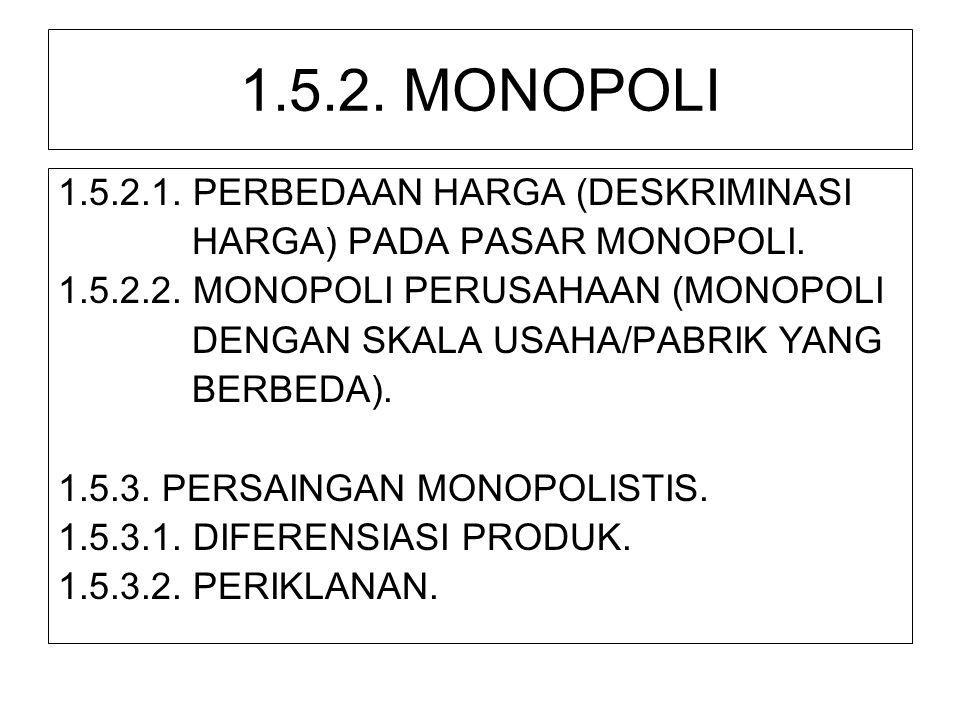 1.5.2. MONOPOLI 1.5.2.1. PERBEDAAN HARGA (DESKRIMINASI